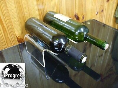 Winery Trade Show Desk Table Clear Display Holder Stand Mount Double Wine Bottle