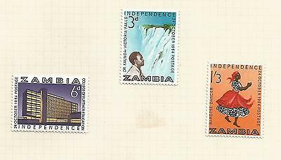 ZAMBIA 1964 independence; set used