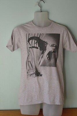 Vintage style Mens shirt Bettie Page T shirt grey size M