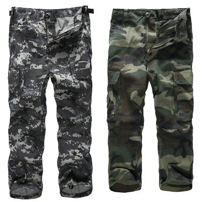 Boys Kids Combat Army Style Ranger camouflage cargo pants for fishing camping