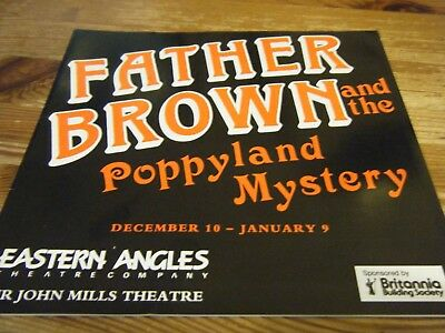 1992  Theatre  Programme  - Father Brown And The Poppyland Mystery - John Mills