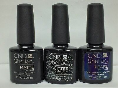 NEW! Cnd Shellac ALLURING TRILOGY TOP COAT COLLECTION - Pick any .25oz