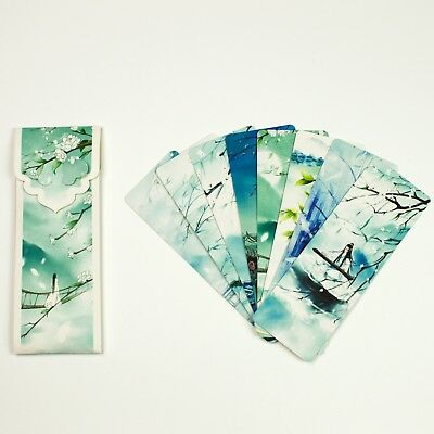 Pack of 8 large paper bookmarks of Chinese scenery #B0016
