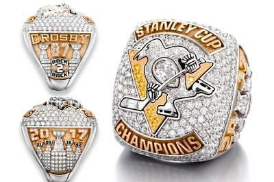2017 Pittsburgh Penguins Hockey Stanley Cup championship ring size 7 - 14