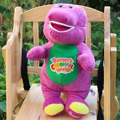 """Barney The Dinosaur Sing I LOVE YOU song Purple 12""""Plush Toy"""