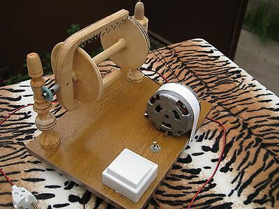 Electric Spinning Wheel for yarn Homemade Russian craft