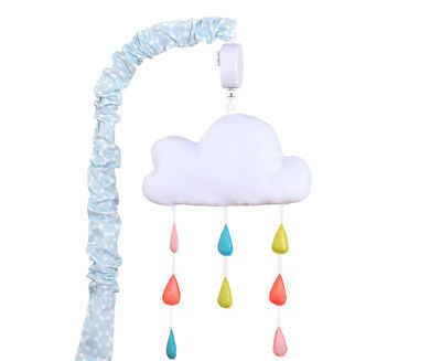 The Peanut Shell True Colours Cloud Musical Mobile - White/Multi