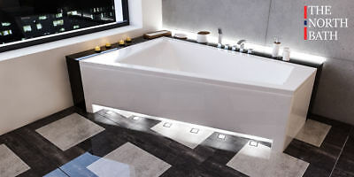 The North Bath DOCCIA Eckbadewanne Rechteck Wanne 150x100/160x100 cm R/L TOP!