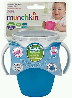 Munchkin Miracle 360 BLUE No spill Trainer Cup Beaker Toddler Leak Proof Drink