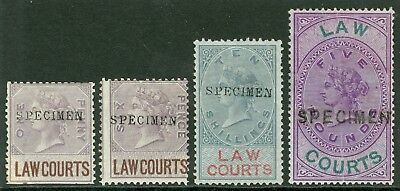1873 Scotland Lawcourts part set to £5. Mounted mint