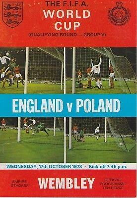England V Poland ~ World Cup Qualifier ~ 17 October 1973