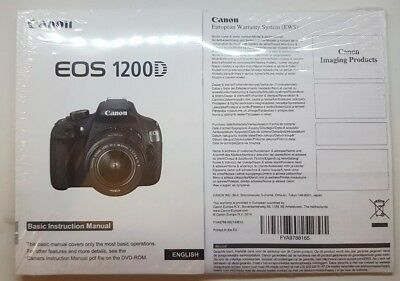EOS 1200D ENGLISH User Manual Kit with CD - V4