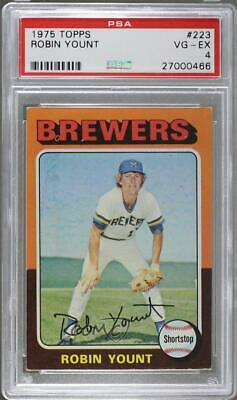 1975 Topps #223 Robin Yount PSA 4 Milwaukee Brewers RC Rookie Baseball Card