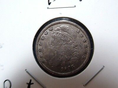 1835 Capped Bust Dime FINE PLUS 10C Coin Auction Starts At 99 Cents!