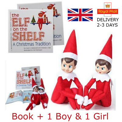 Elf On The Shelf Book A Christmas Tradition Kids Story Book 3PCS Chirstmas Gift