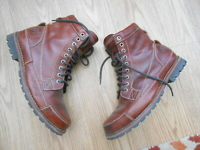 Timberland  Brown Leather High Top Boots  Size Uk 8.5