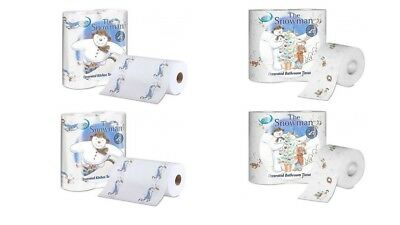 Nicky 'The Snowman' 10 Rolls 2ply KitchenTowel+20 Rolls 3ply Toilet Paper Festiv