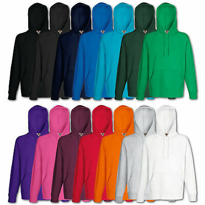Fruit of the Loom Kapuzenpullover Sweatshirt Lightweight Hoodie Shirt M L XL XXL