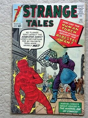 Strange Tales #111 Marvel Comic Book 1963 Fine- Second Dr Strange