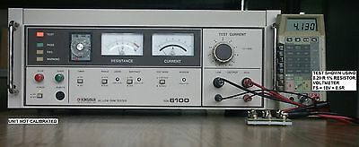 Kikusui Tos6100 Ac Low Ohm Tester (Earth Continuity Tester).