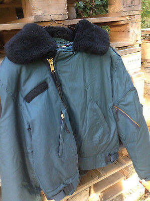 Vintage  Canadian Military Cold Weather  Airforce Flight Jacket