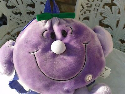 SOFT TOY LITTLE MISS NAUGHTY BACK PACK by MRS ROGER HARGREAVES 1998 MR MEN