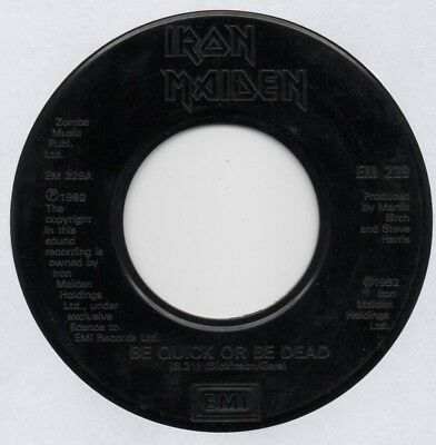 "IRON MAIDEN - BE QUICK OR BE DEAD 7"" 45 VINYL Rare 1992 UK Jukebox Promo Issue"