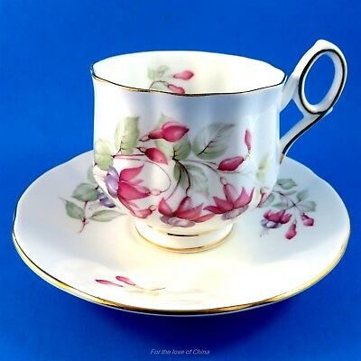 Pretty Pink and Purple Floral Rosina Tea Cup and Saucer Set
