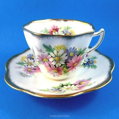 Colorful Daisies Rosina Tea Cup and Saucer Set