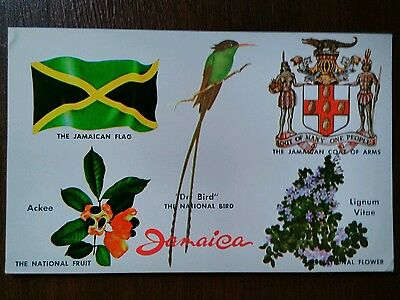 Jamaica National Emblems Postcard