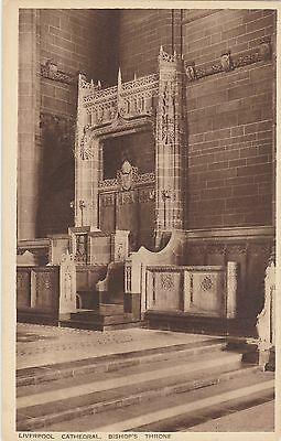 Liverpool Cathedral, Bishop's Throne. Valentine's Post Card. Circa 1910