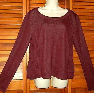 Lululemon Athletica Tie Back Sweatshirt Ruffled Top Size 8/10 Women's Sweater