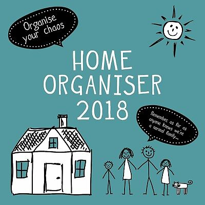 Home Family Organiser ~ 16 Month  2018 Square Wall Calendar