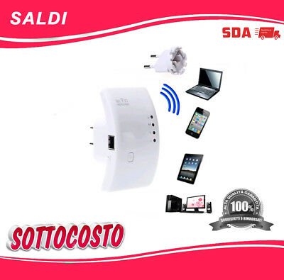 AMPLIFICATORE WIFI ACCESS POINT 300 Mbps RIPETITORE WIFI RANGE EXTENDER LAN 100%