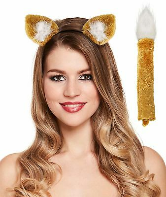 Fox Set Book Week Roald Dahl Ears Tail Fancy Dress Headband Accessory Kit