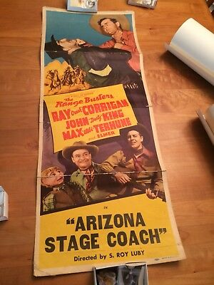 Arizona Stage Coach 1942 Insert Western Movie Poster FREE SHIPPING