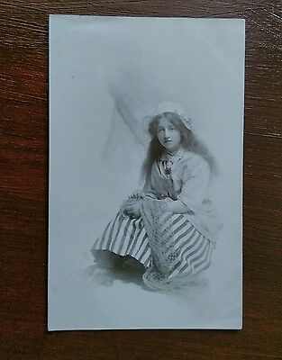 Young Woman In Costume Art Fashion Postcard