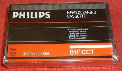 Philips Audio Cassette Tape Head Cleaner - New & Sealed