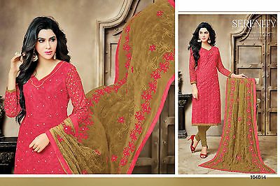 Unstitched Cotton Embroidery Salwar Kameez With Dupatta 104011