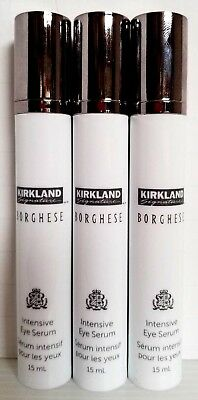 Lot of 3 pcs KIRKLAND BORGHESE Intensive Anti-aging Eye Serum 0.5oz each u/b