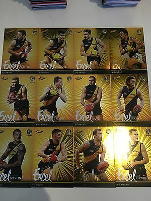 2016 Afl Select Footy Stars Excel Parallel Team Set  Richmond Tigers