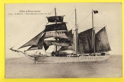 cpa FRANCE St MALO NAVIRE VOILIERS Pêche SAILING SHIP Terre-Neuvier Newfoundland