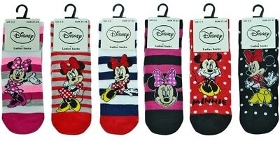 3 Pairs of Disney Minnie Mouse Character Cotton Rich Socks.