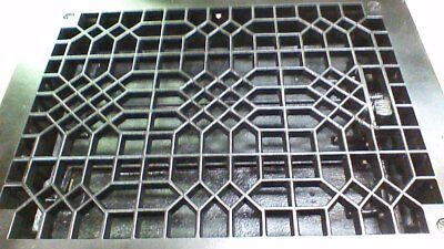"""Antique Heat air grate register rectangle with louvers 14"""" x 11"""" vintage NICE!"""