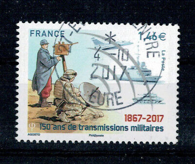 2017 Transmissions Militaires Oblitere Cachet Rond 04/10/2017