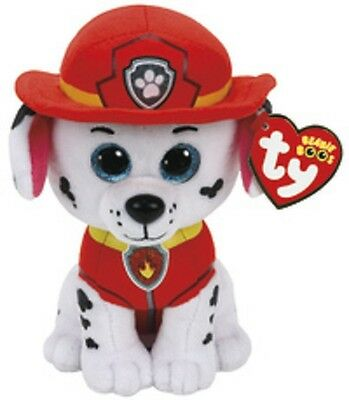 "TY Paw Patrol 6"" Plush - Marshall - Brand New"