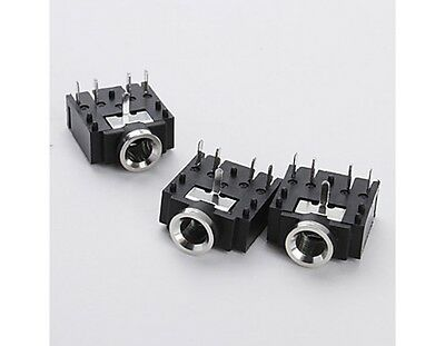 2 X 3F07 JACK Audio estéreo Socket 3.5mm 5 pins, conector PCB