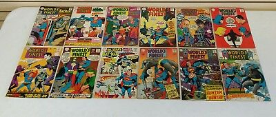 Lot of 12 Low Grade G/VG World's Finest Comics 171-182 (1st Silver Age Two-Face)