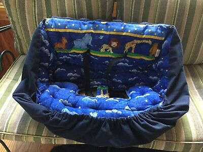 Buggy Bagg Elite Baby Shopping Cart Cover & Diaper Carrier Noah's Ark MUST SEE