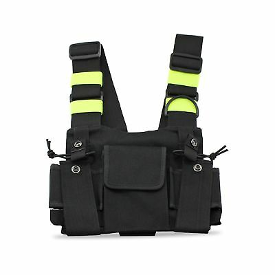 abcGoodefg Radio Chest Harness Chest Front Pack Pouch Holster Vest Rig for Tw...
